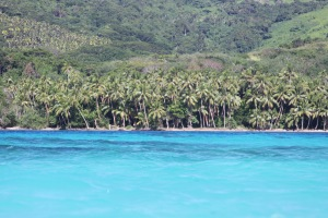 The beautiful sandy beaches at Koro Island